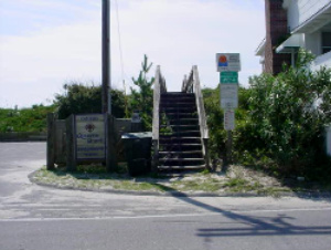 Steps to beach access